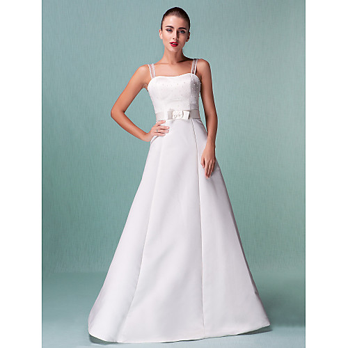 Длинное сатиновое свадебное платье Lightinthebox 3402.000