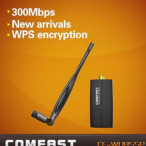 comfast CF-wu855p 2,4 300mbps мини беспроводные 300mbps USB WiFi адаптера антенны Lightinthebox 429.000