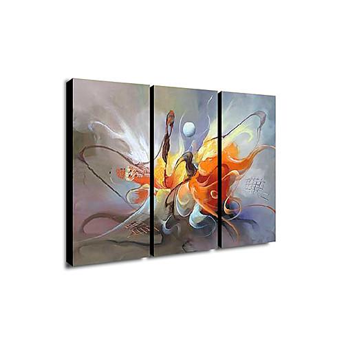 Картина маслом, ручной работы, мотив абстрактный, вытянутая рамка, 3шт. Lightinthebox 4296.000
