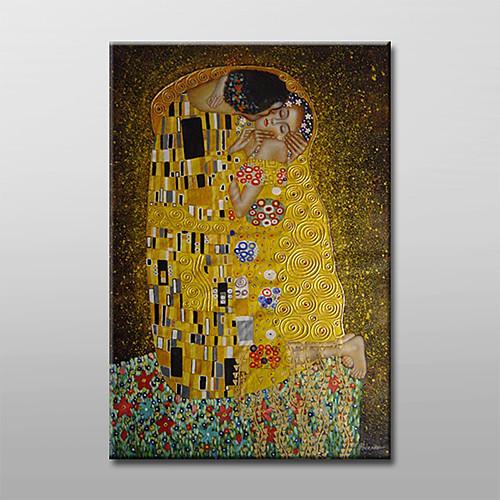 ручная роспись масляной живописи - поцелуй Густава Климта с вытянутыми кадра Lightinthebox 4296.000