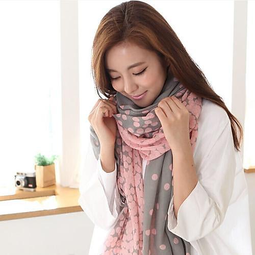 Женский теплый шарф в горошек <br>
