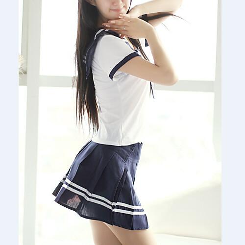 Симпатичные Военно-морского флота стиль белый и синий Школьная форма (4 шт) Lightinthebox 644.000