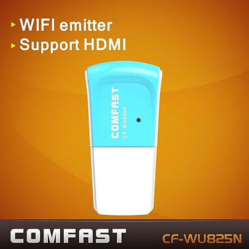 comfast CF-wu825n 2,4 ГГц 802.11b / G / N 300Mbps USB 2.0 беспроводной сети Wi-Fi адаптер Lightinthebox 300.000
