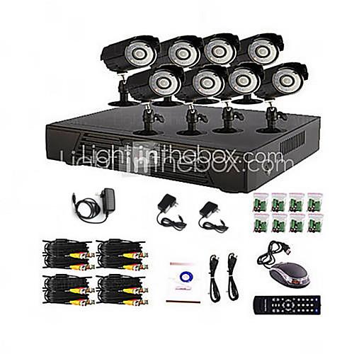 8 домашнего канала и офиса Системы видеонаблюдения DVR (P2P Интернет, камера наружного 8) Lightinthebox 6402.000