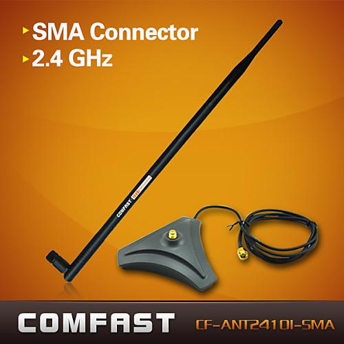 comfast CF-ant2410i-SMA супер высоким коэффициентом усиления WIFI антенна 2,4 ГГц база RP-SMA разъем-черный Lightinthebox 257.000