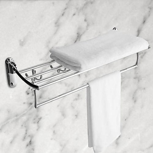 Полка с крючками из нержавеющая стали для полотенец в ванную комнату Lightinthebox 2148.000