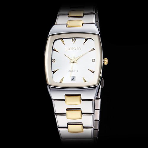 мужской роскоши площади набора стальной ленты кварцевые наручные часы (разных цветов)