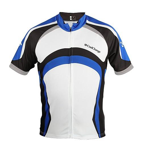 CoolChange Мужская MTB с коротким рукавом дышащий Синий Велоспорт Джерси Lightinthebox 687.000