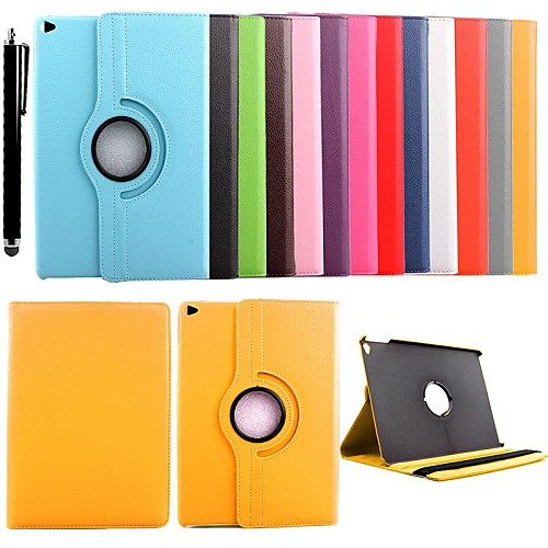 KARZEA 360 Degree Rotating PU Leather Case with Stand and Stylus for iPad Air 2/iPad 6 (Assorted Colors)