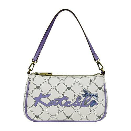 Кейт&сопредседателей женщин фиолетовый пвх Macarons серии сумка на плечо