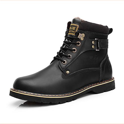 Ботинки мужские кожаные на шнуровке (цвета в ассортименте)