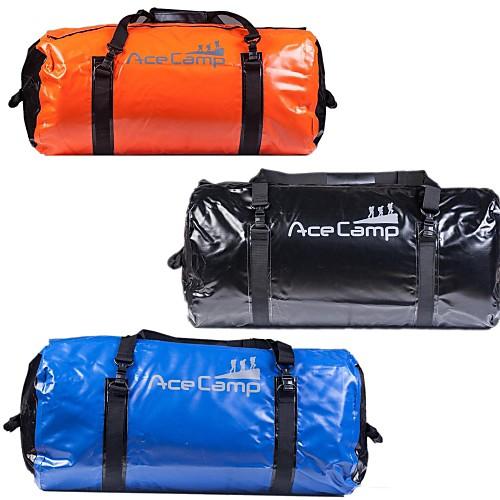 Наружная кемпинг складной водонепроницаемый сухой мешок вещевой 90л 74x33cm (оранжевый синий черный)