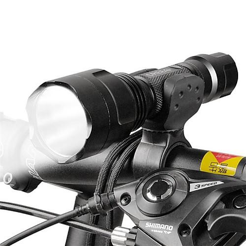 Светодиодные фонари Передняя фара для велосипеда LED Велоспорт Фокусировка 18650 Люмен БатареяПоходы/туризм/спелеология Повседневное