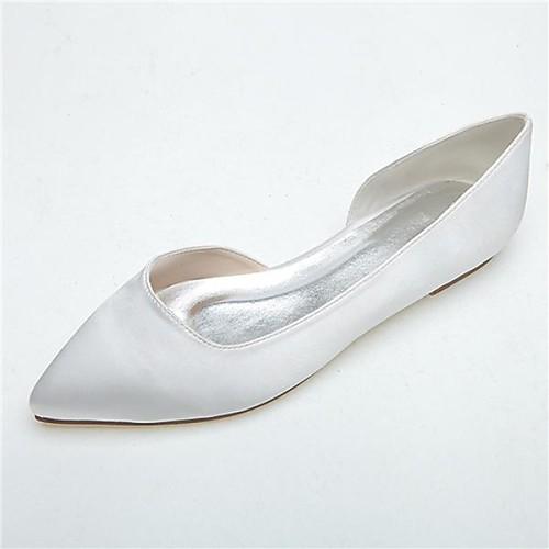 женская обувь острым носом плоским пятки атласные квартиры свадебные туфли больше цветов (lightinthebox) Эмба