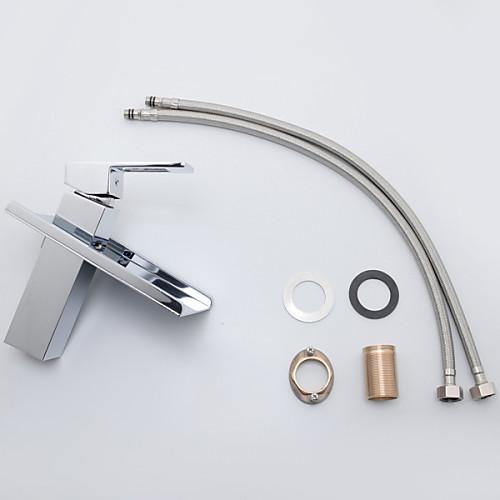 Современные одной ручкой Водопад Ванная раковина кран (хромированная отделка) Lightinthebox 5585.000