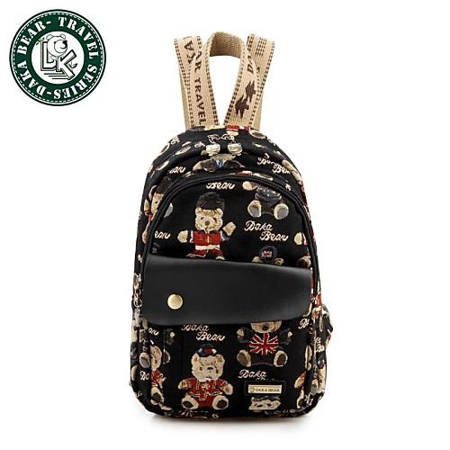 50fe310d7a05 Дака bear рюкзак студент школы мешок холщовый мешок случайные путешествия  рюкзак