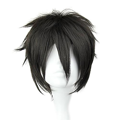 Косплэй парики Sword Art Online Kirito Черный Короткие платья / Прямой силуэт Аниме Косплэй парики 32 CM Термостойкое волокно Мужской