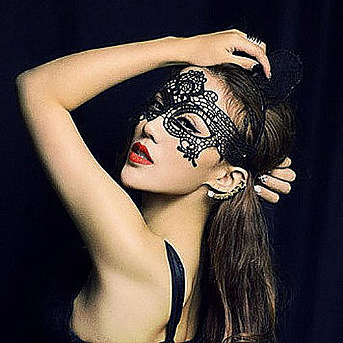 Маски Косплей Фестиваль / праздник Костюмы на Хэллоуин черный Кружева / Однотонный Маски Хэллоуин Универсальные Кружево от Lightinthebox INT