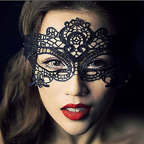 Маски Косплей Фестиваль / праздник Костюмы на Хэллоуин черный Кружева / Однотонный Маски Хэллоуин Универсальные Кружево <br>