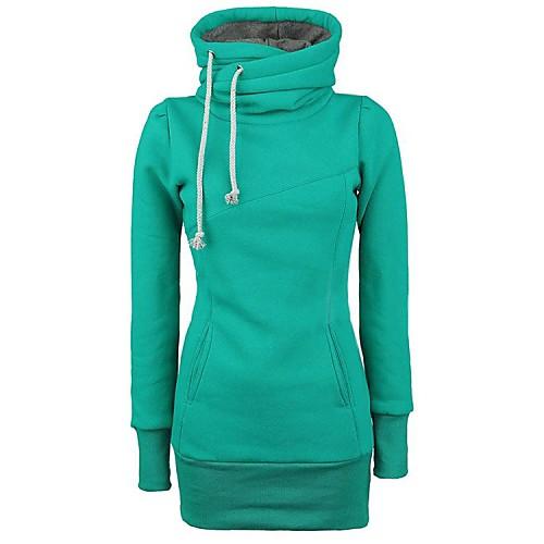 женские ничья струнные карманы перетяжке хлопок сплошной цвет толстовки от Lightinthebox.com INT