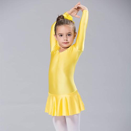Балет Платья Жен. Спандекс Длинный рукав Платье