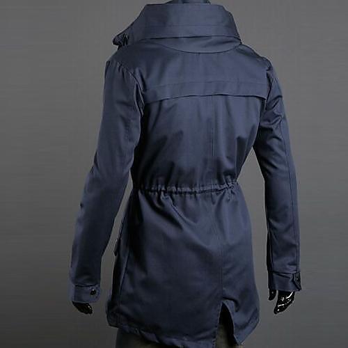 Мужской Смесь хлопка Куртка На каждый день,Однотонный,Длинный рукав,Несколько цветов от Lightinthebox.com INT