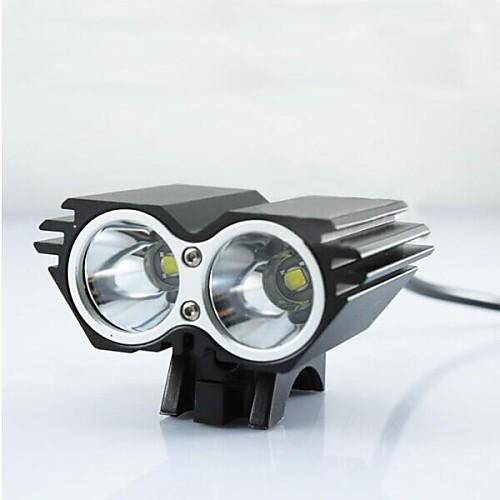 Налобные фонари Велосипедные фары Передняя фара для велосипеда Светодиодная лампа XM-L2 U2 Велоспорт Ударопрочный Перезаряжаемый