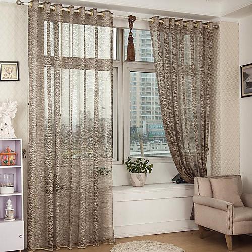 Sheer curtains in bedroom