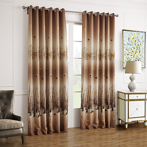 Country curtain panels