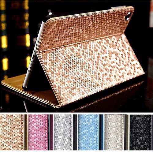 DF Supper Slip Diamante Auto Sleep/Wake Up PU Leather Full Body Case  for iPad mini/mini 2 /mini 3(Assorted Colors)