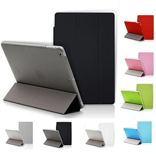 DF Solid Color Auto Sleep/Wake Up PU Folding Case for iPad 2/3/4 (Assorted Colors)