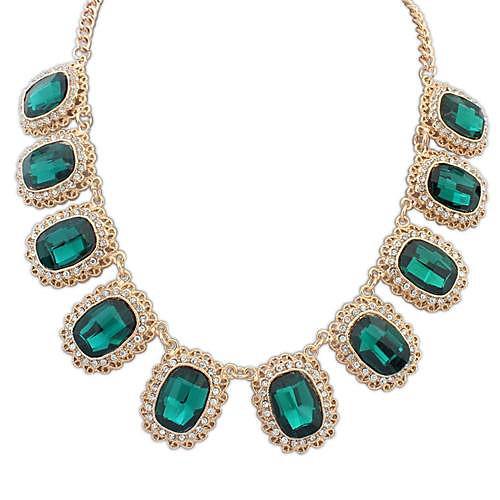 Европейский стиль изысканная роскошь драгоценных камней ожерелье (более цветов).  Тип:Ожерелья; Пол:Женские...