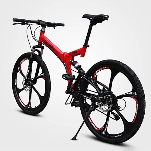 Горный велосипед Велоспорт 21 Скорость 26 дюймы / 700CC Двойной дисковый тормоз Вилка Полная подвеска Обычные углерод / Алюминиевый сплав
