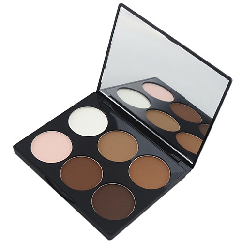 6 Colors Powders Pressed powder Bronzers Dry / Matte Face Makeup Cosmetic