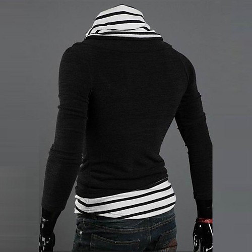 Мужской - Длинный рукав - Полоски - Пуловер ( Хлопок/Вязаная одежда ) Длинный рукав от Lightinthebox.com INT