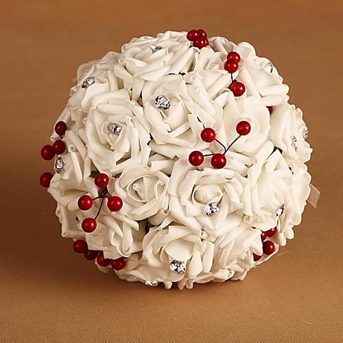 Как сделать круглый букет из роз