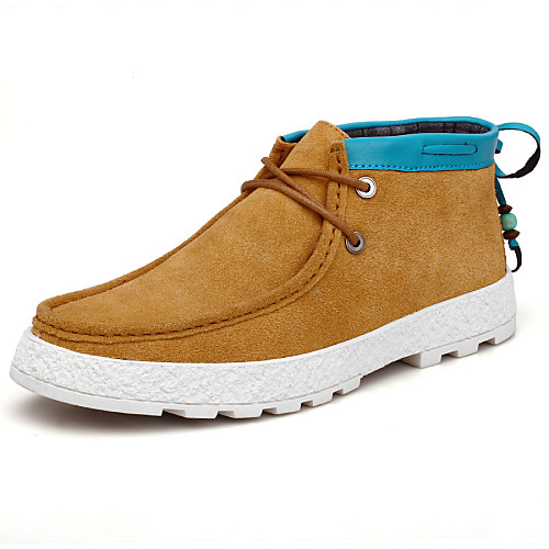 Искусственная замша - MEN - Закрытый мыс - Туфли на шнуровке