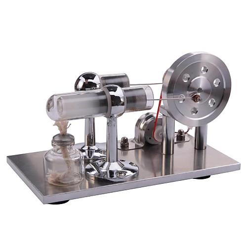 Stirling машина Модель двигателя двигателя Дисплей Модель Обучающая игрушка Игрушки для изучения и экспериментов Игрушки Квадратный LED