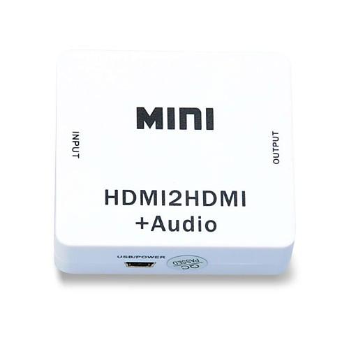 1080p HDMI Audio Extractor Splitter HDMI 1.4 цифрового сигнала в аналоговый 3,5 мм аудиовыхода адаптер
