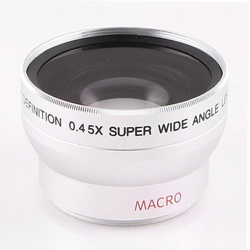 37мм 0.45X Широкоугольный объектив с дополнительным макро-объективом для Sony HDR-HD1000C XR500E 520E Nikon Canon Camera Caliber <br>