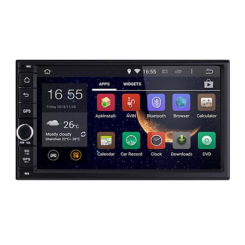 Универсальный, Автомобильный радиоприемник Android4.4 2 DIN 7-дюймовый 1024 х 600, Bluetooth / WiFi / GPS / RDS / 3D интерфейс от Lightinthebox.com INT