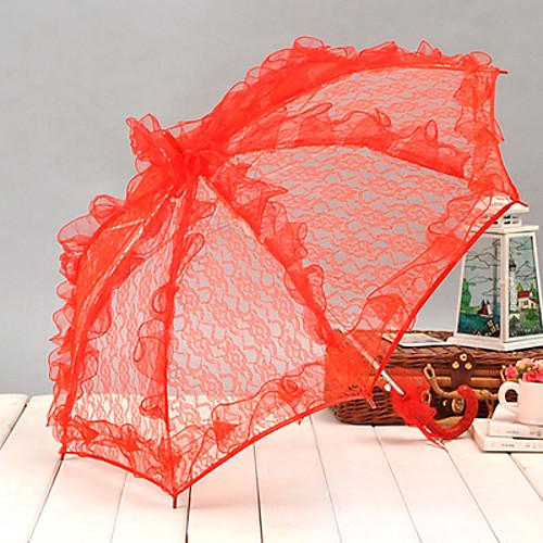 Ручка крючком Свадьба Повседневные Маскарад Пляж Зонт Зонты 58 см