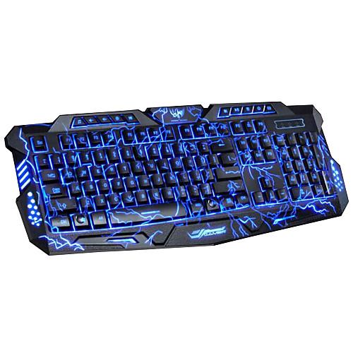 Игровая клавиатура USB Проводная, 114-клавишная со светодиодной програмируемой подсветкой DuShiFangYuan <br>