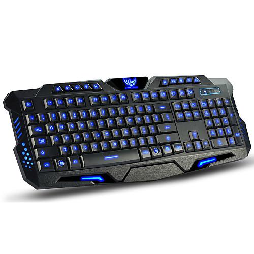 LITBest M200 USB Проводной Игровые клавиатуры Мультимедийная клавиатура Светящийся Мульти цвет подсветки 114 pcs Ключи