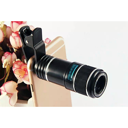 универсальный 12x телеобъектив HD зеленой пленки оптического стекла съемный объектив для iphone HTC Samsung Сони от Lightinthebox.com INT