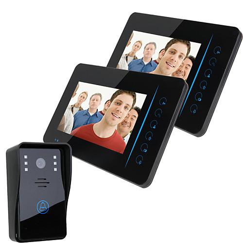 """Ennio 7 """"""""tft 2.4g беспроводной видео домофон домофон домофон домашний сейф 1 камера 2 монитор от Lightinthebox.com INT"""