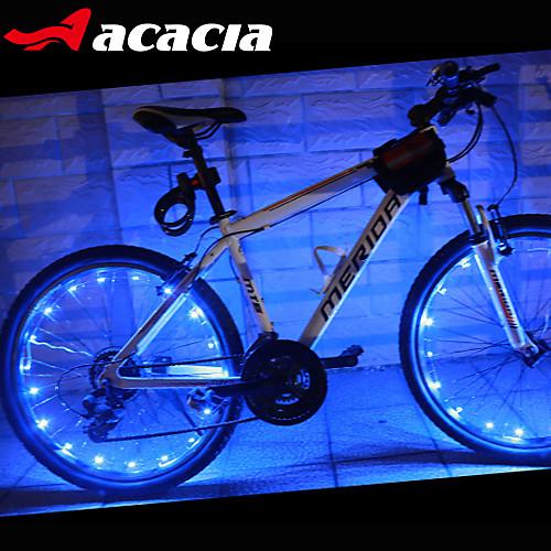 Светодиодная лампа Велосипедные фары Велосипедные фары Колесные огни колесные огни - Велоспорт Меняет цвета Батарейки таблеточного типа 400 lm USB Батарея Велосипедный спорт - Acacia / IPX-4, Зеленый