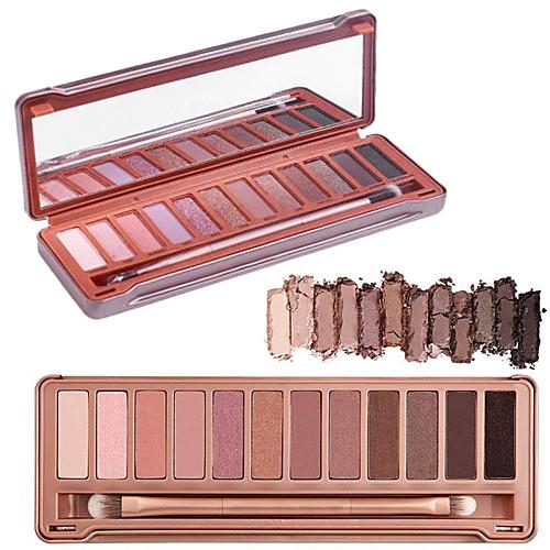 12 цветов складка глаз тени 3в1 матовый переливаются&палитра блеск оригинальный цвет с кистью&зеркало от Lightinthebox.com INT