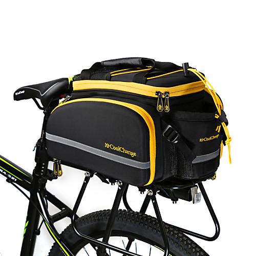 CoolChange 18 L Сумка на багажник велосипеда / Сумка на бока багажника велосипеда Водонепроницаемость Пригодно для носки Со светоотражающими полосками Велосумка/бардачок Терилен Велосумка/бардачок