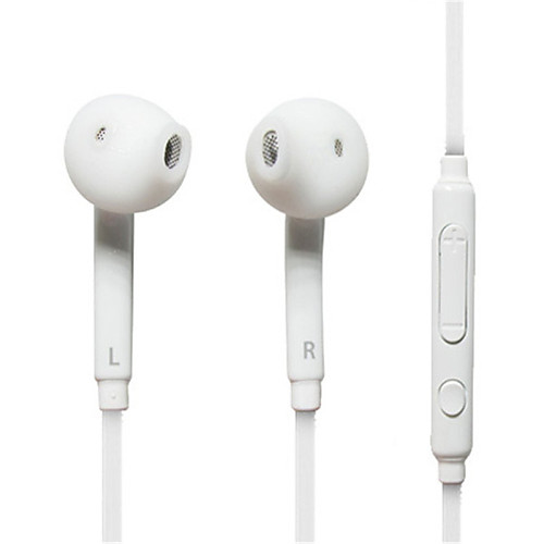 белые наушники-вкладыши гарнитура наушники для Samsung, компьютерами, телефон